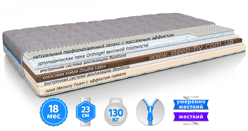Матрас ORTHOPEDIC MAXI EFFECT NEW / ОРТОПЕДИК МАКСИ ЭФФЕКТ НЬЮ (АКЦИЯ -25%)
